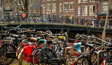 Амстердам велосипедисты